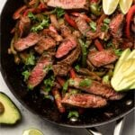 Easy Steak Fajitas Pinterest image