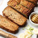 Healthy Zucchini Banana Bread Pinterest image