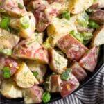 Honey Mustard Potato Salad Pinterest image